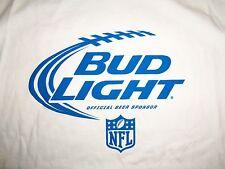 NFL Bud Light Official Beer Sponsor NFL Football White Graphic Print T Shirt XL