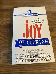 Joy of Cooking, Vol 1 Main Course Dishes , Irma Rombauer 1974 Signet Paperback