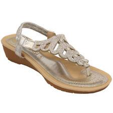 Zapatos de tacón de mujer de color principal plata sintético talla 37
