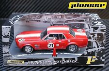 Pioneer Slot Car Ford Mustang Notchback P012 no21 in Red, mint unused