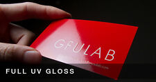 250 UV (Glossy) Business Cards Printing 14PT, Ship from Canada