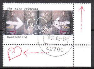 BRD 2002 Mi. Nr. 2235 Eckrand 4 , Vollstempel Ersttag 10.1.02 mit Gummi (8581)