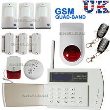 Seguridad LCD Inalámbrico GSM marcado automático Casa Oficina ladrón intruso alarma de incendio