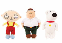 "NEW OFFICIAL 11"" FAMILY GUY PLUSH SOFT TOY BRIAN STEWIE AND PETER SOFT TOYS"
