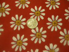 Daisy on Red Brother Sister Design Country Time Fabric - 1 yard