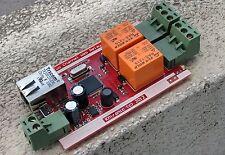 LAN Ethernet IP 2 Relay board, Ethernet 2 Relay controller module, WEB server