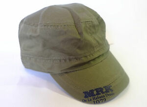 NEW MILITARY STYLE BUCKLE BACK CAPS 2 COLOURS - Dark Blue or Green 52cm