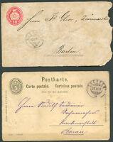SWITZERLAND 2 Old Postal Stationeries VF