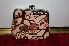 Owl 3 compartment purse