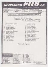 Football Programme>LEICESTER CITY RESERVES v LEEDS UNITED RESERVES Sept 1984