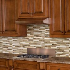 Peel and Stick Decorative Wall Tile Mosaic Natural Stone Home Kitchen Display