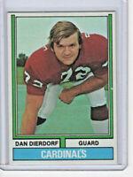 Dan Dierdorf Cardinals 1974 Topps Football Card #32