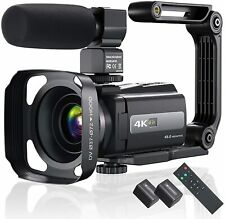 4K 60FPS Video Camera Camcorder Ultra HD 48MP YouTube Vlogging WiFi Digital Cam