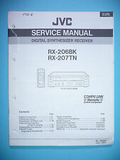 Service Manual Instructions for JVC RX-206/RX-207, Original