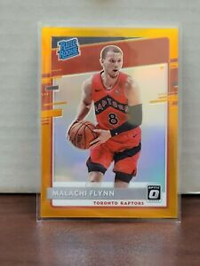 2020-21 Panini Donruss Optic Malachi Flynn Orange Rated Rookie /199 Raptors