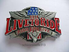 Harley Davidson  BUCKLE LIVE TO RIDE EVO NEU!