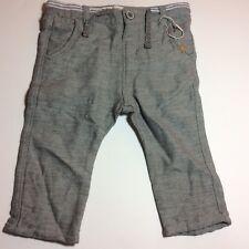 NWOT Zara Baby Boy Dress Pants 6-9 Months Cotton Tweed Grey