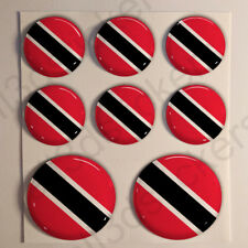 Pegatinas Trinidad y Tobago Pegatina Bandera Redondas 3D Vinilo Adhesivo Relieve