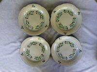 """Stangl Pottery Petite Flowers Dinner Plates Vtg 1970 - 1978 10.5"""" Set of 4"""
