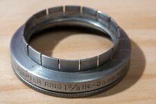 "Kodak 35mm ( 1⅜"") slip-on adapter to Series VI (6) w/ retaining ring"