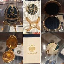 Fabergé rosebud collectible egg with hidden necklace and stand