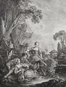 François Boucher (1703-1770) -'La Pêche' ca. 1775