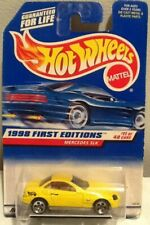 Hot Wheels 1998 First Editions #11 Mercedes SLK Car Yellow MINT