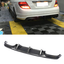 For Mercedes Benz W204 C63AMG 08-11Carbon Fiber Rear Bumper Diffuser Lip Spoiler