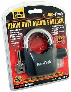 ALARM PADLOCK - HEAVY DUTY HIGH SECURITY ALARM LOCK - T2310