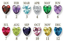 12 PCS Each Color Birthstones Floating Charms For Living Memory Locket Necklace