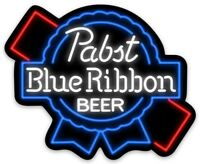 Pabst Blue Neon Ribbon PBR Custom MAGNET beer fridge P.B.R. toolbox Beer
