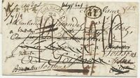 BELGIUM/FRANCE/PRUSSIA/HOLLAND 1835 superb pre-stamp RE-DIRECTED FOUR-COUNTRIES