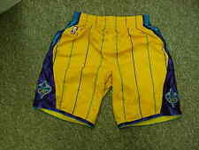2010-11 New Orleans Hornets Game Worn Gold adidas climacool Game Shorts Size LG