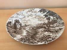 Ridgeway Staffordshire Platter. Country Days Brown Oval decorative plate