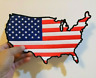 National flag Map symbol American United States Embroidered Iron-On Sew patches