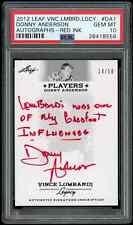PSA 10 2012 Leaf Vince Lombardi Legacy Autographs Red Donny Anderson Auto /50