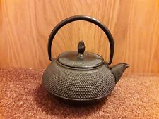 Japanese Style Cast Iron Black Hobnail Tea pot Kettle. 0.6 ltrs. Swivel Handle.