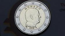 2 euro MONACO 2018 fdc da rotolino Principe ALBERTO prince albert II Монако