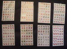 NAIL ARE DESIGNS 8 SHEETS NEW SEALED HEART BALOONS AQUATIC CUPID ARROW