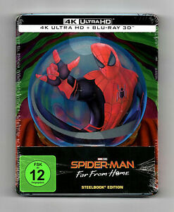 SPIDER-MAN 4K Ultra HD Steelbook + 3D Blu-ray NEU & OVP RAR OOP Far From Home