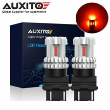 2x AUXITO 3157 3156 4057 LED Brake Stop Light Tail Indicator Light Bulb RED