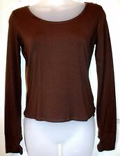 NEW QUALITY KAPALUA BROWN LONG SLEEVED TOP SIZE 10  # 295