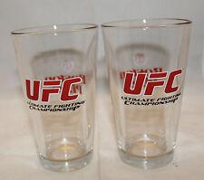 Boston Pizza UFC Ultimate Fighting Championship Set of 2 Drinking Glass Tumbler