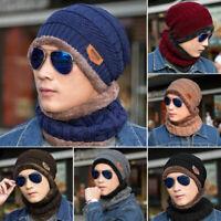 Winter Unisex Men Camping Hat Warm Wool Beanie Baggy Ski Scarf Cap Fleece Line
