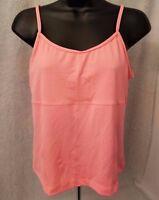 Athletic Works Womens Orange Shirt Blouse Cami Tank Top Size L