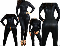 FETISCH DOMINA CATSUIT OVERALL BODYSUIT LACK LEDER  BDSM COSPLAY 34 36 38 40 42