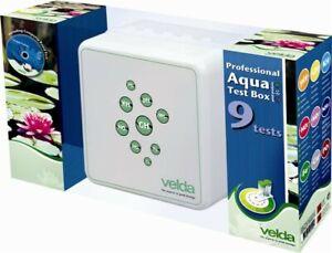 Velda Professional Aqua-Test-Box 9Tests PH/GH/KH/NO2/NO3/NH3/4/Fe/Cu/PO4