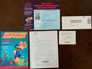 Nintendo Power Issue #1 w/ Rare Letter, Sticker, Inserts [LIKE NEW]