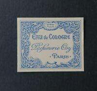 Etiquette  parfum EAU DE COLOGNE OSY PARIS Perfume Label French
