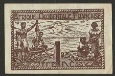 1944 FRENCH WEST AFRICA 1 FRANC NOTE